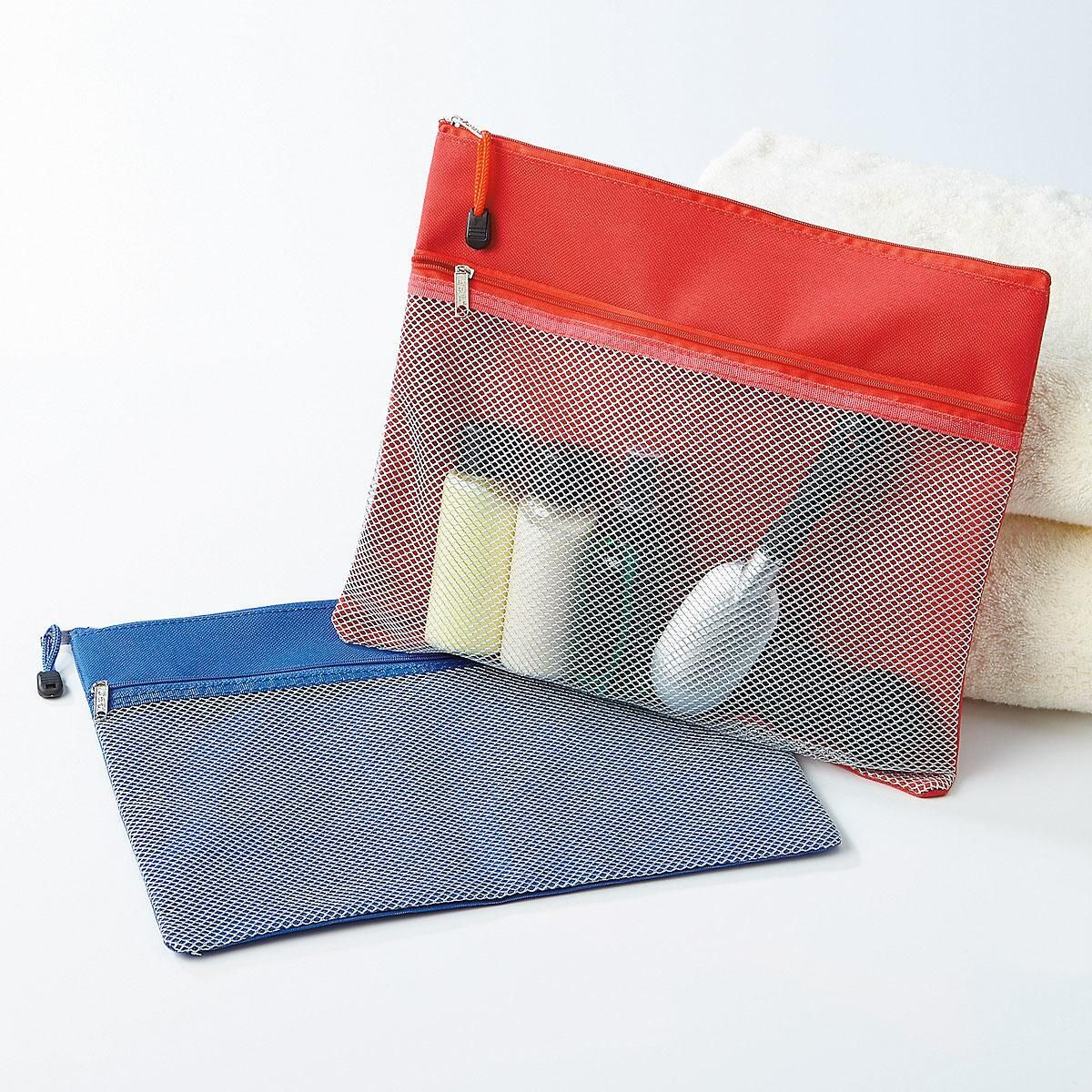 Canvas Mesh Zipper Pouches