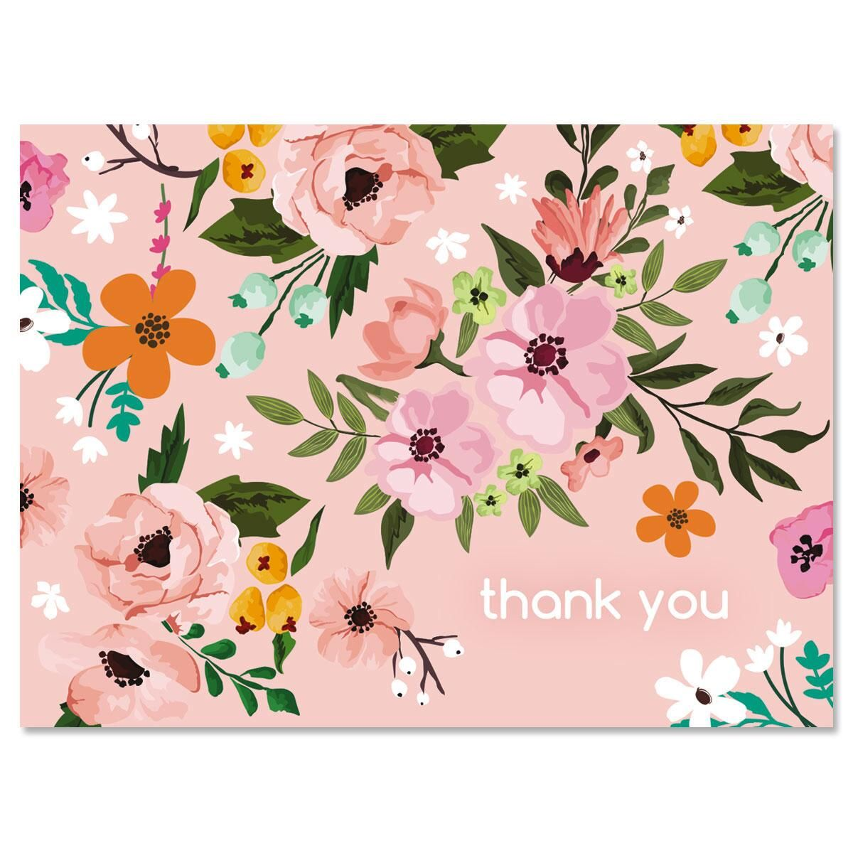 FG1 - 8 Flower Thank You Note Cards