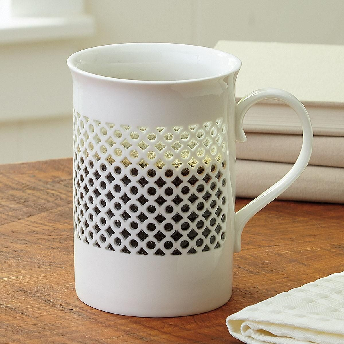 Elegant Cutout Pattern Mug