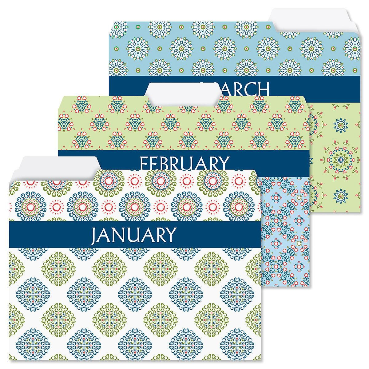 Fresh Patterns File Folders