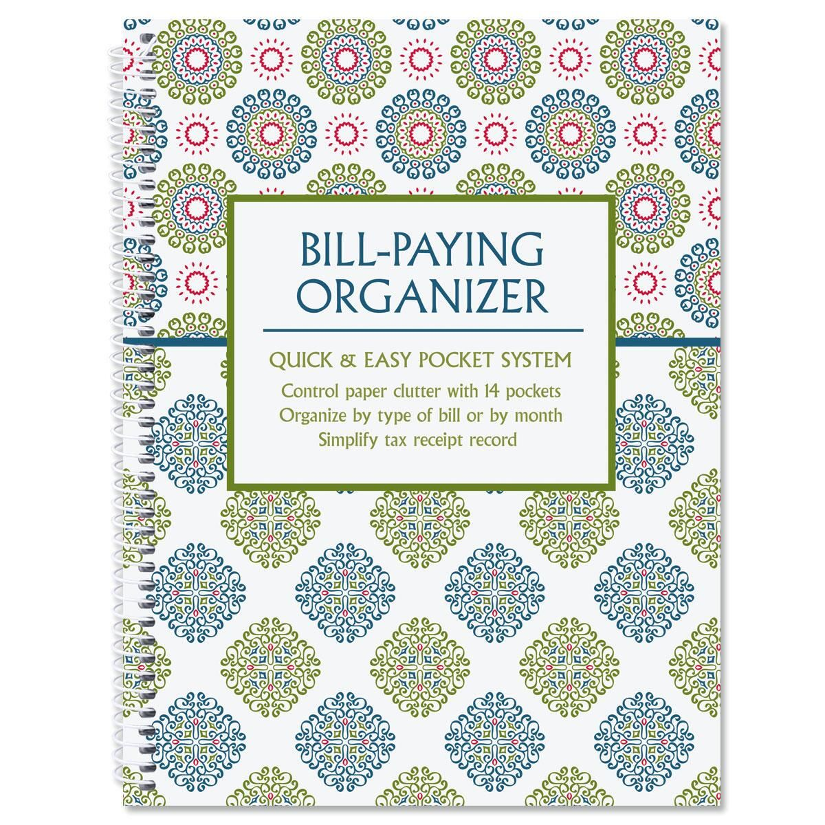 Fresh Patterns Bill Paying Organizer