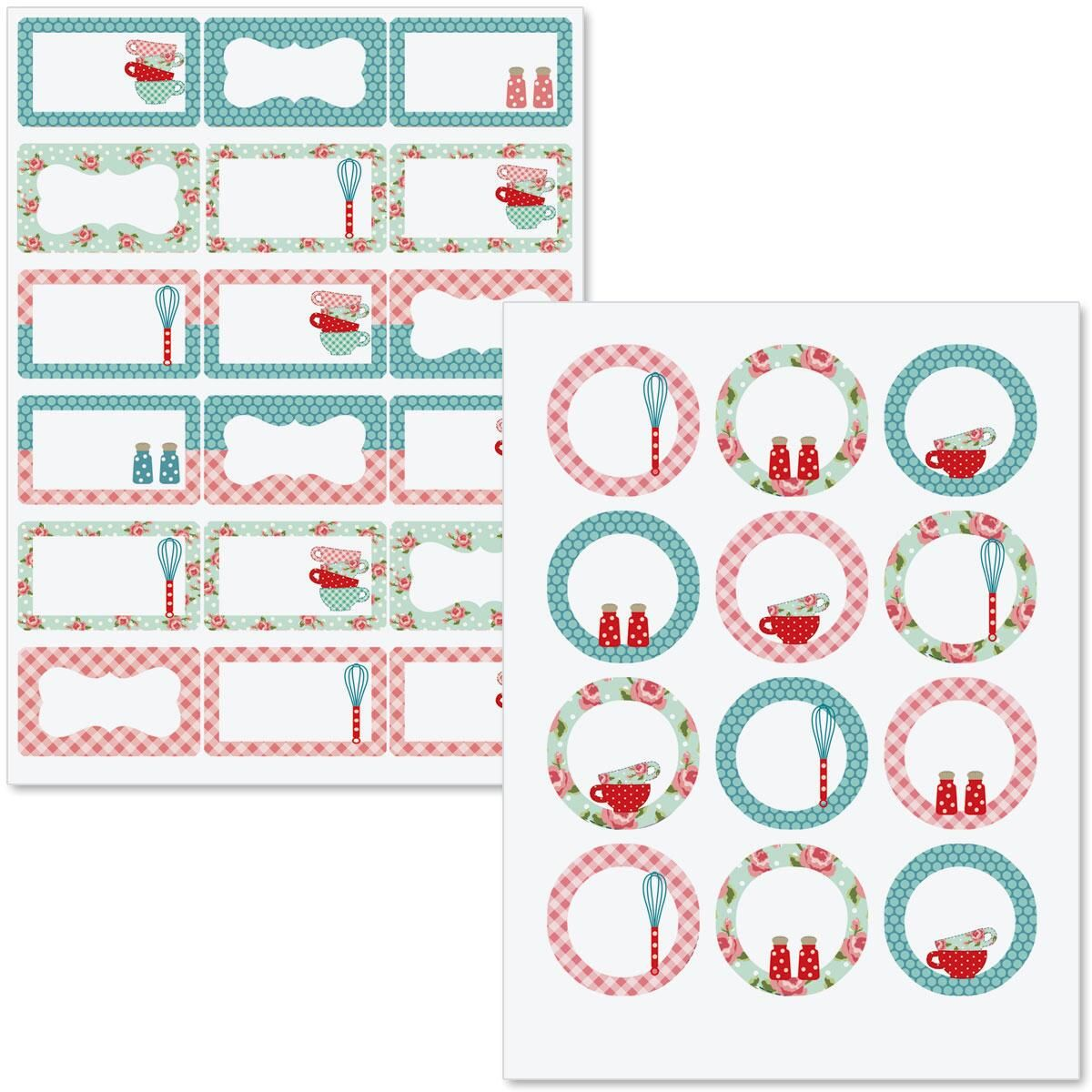 Retro Fabric Canning Jar Labels