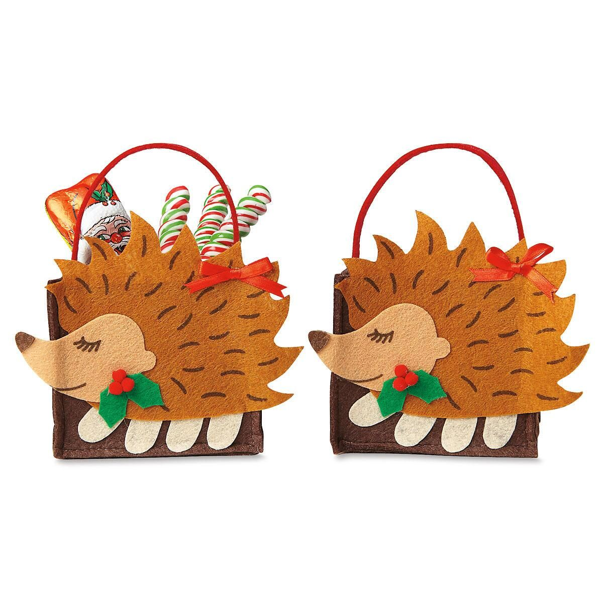 Hedgehog Felt Treat Bags