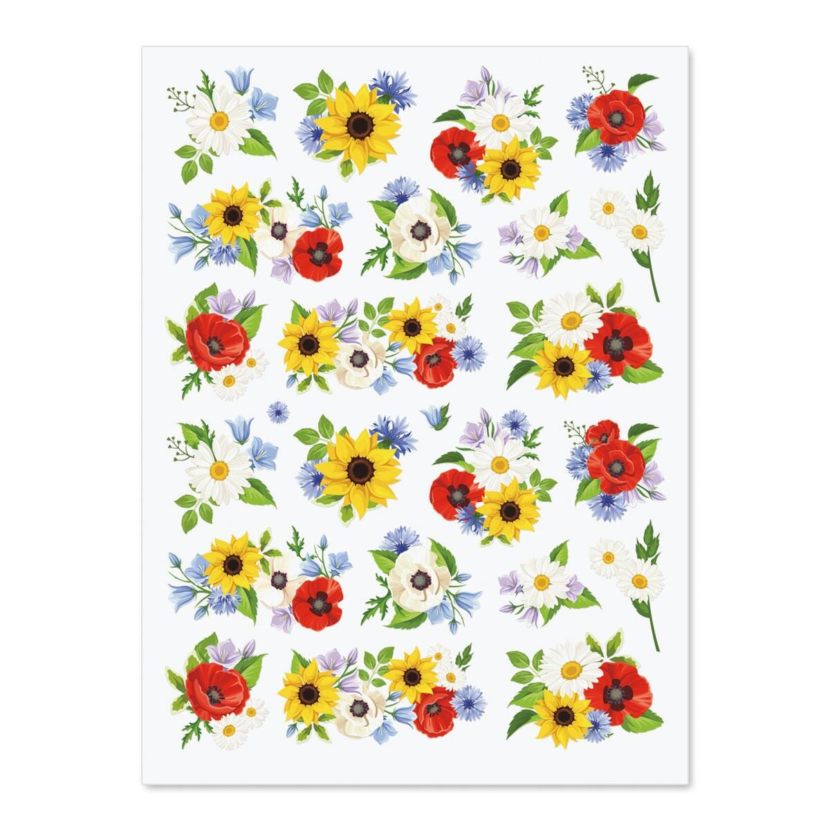 Poppies, Sunflowers & Daisies Stickers - BOGO