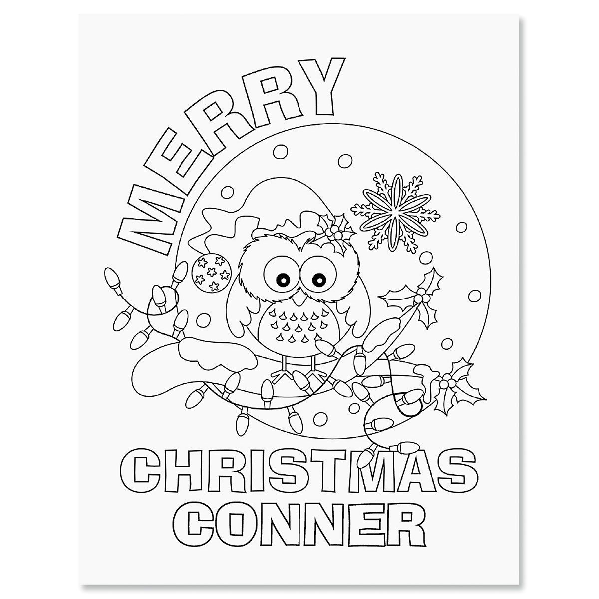 Christmas Color & Activity Personalized Book