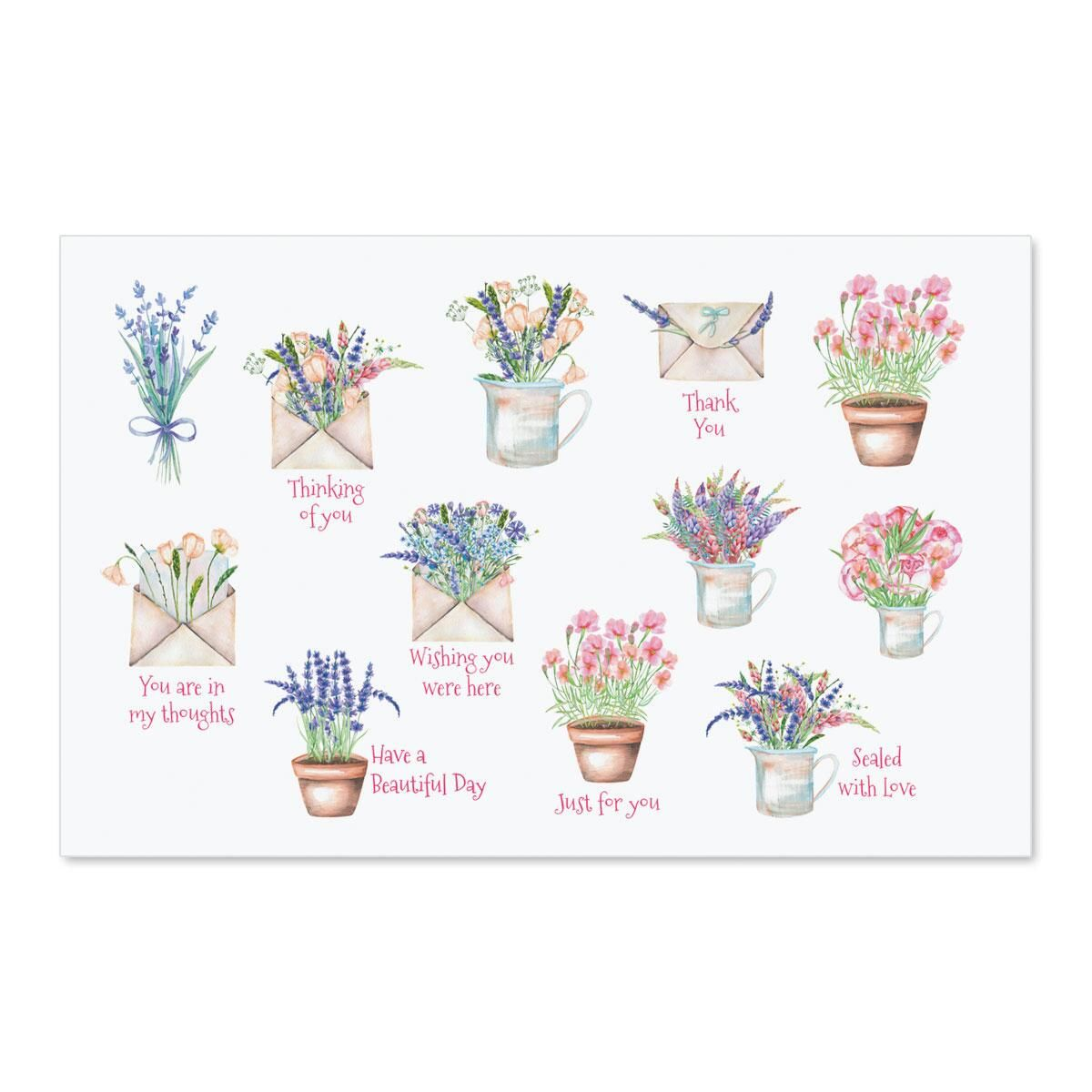 Cheerful Sentiments Stickers