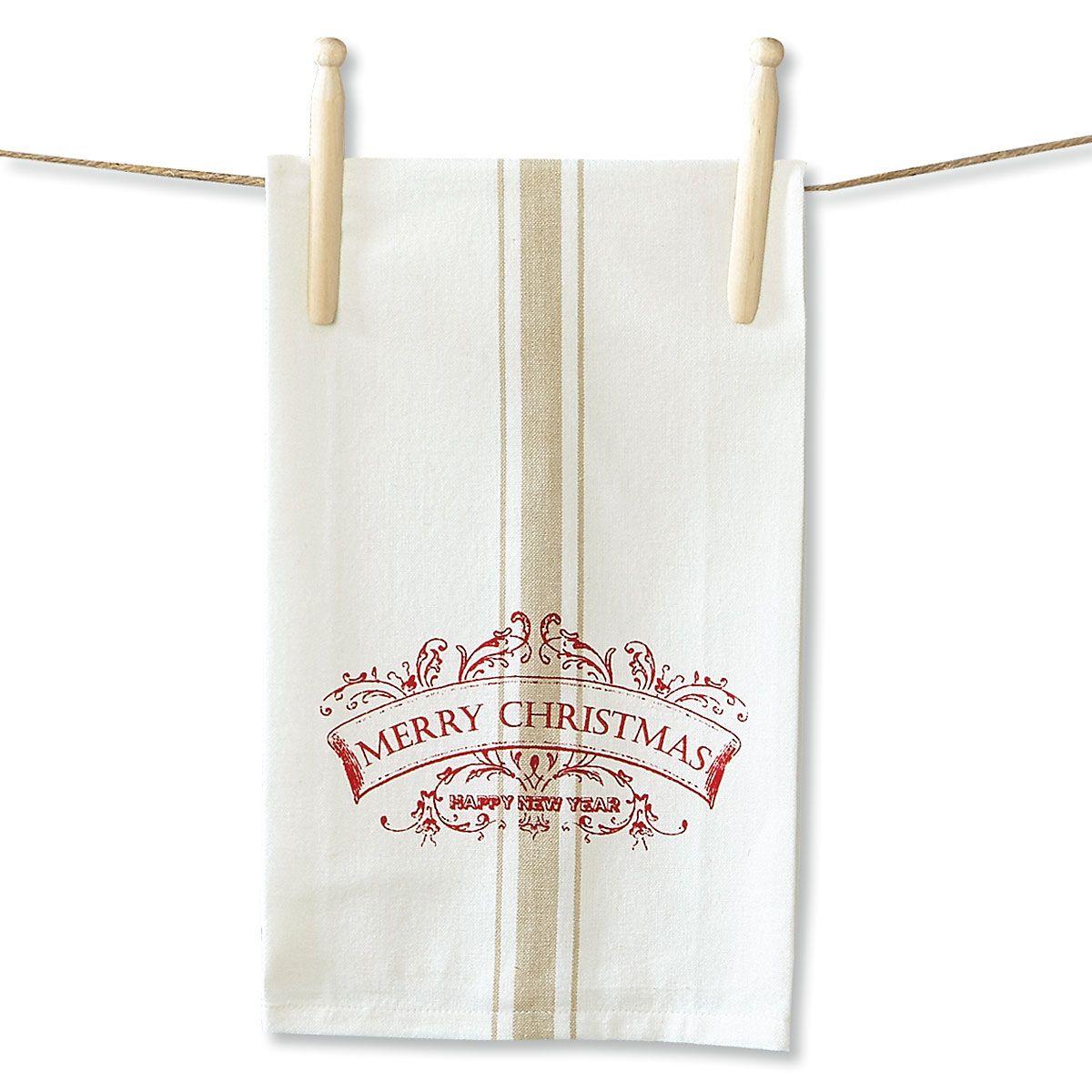Vintage Christmas Kitchen Towel