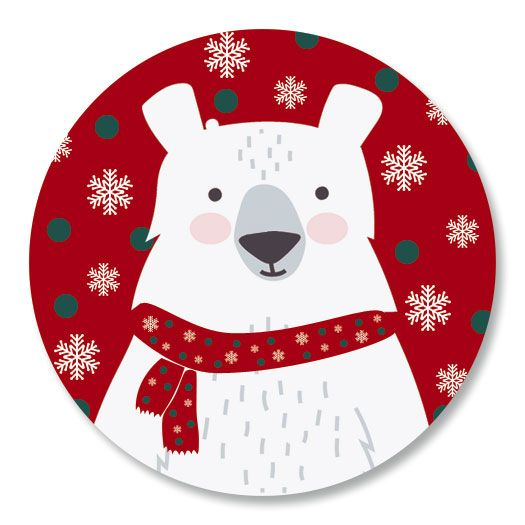 Beary Merry Christmas Seals