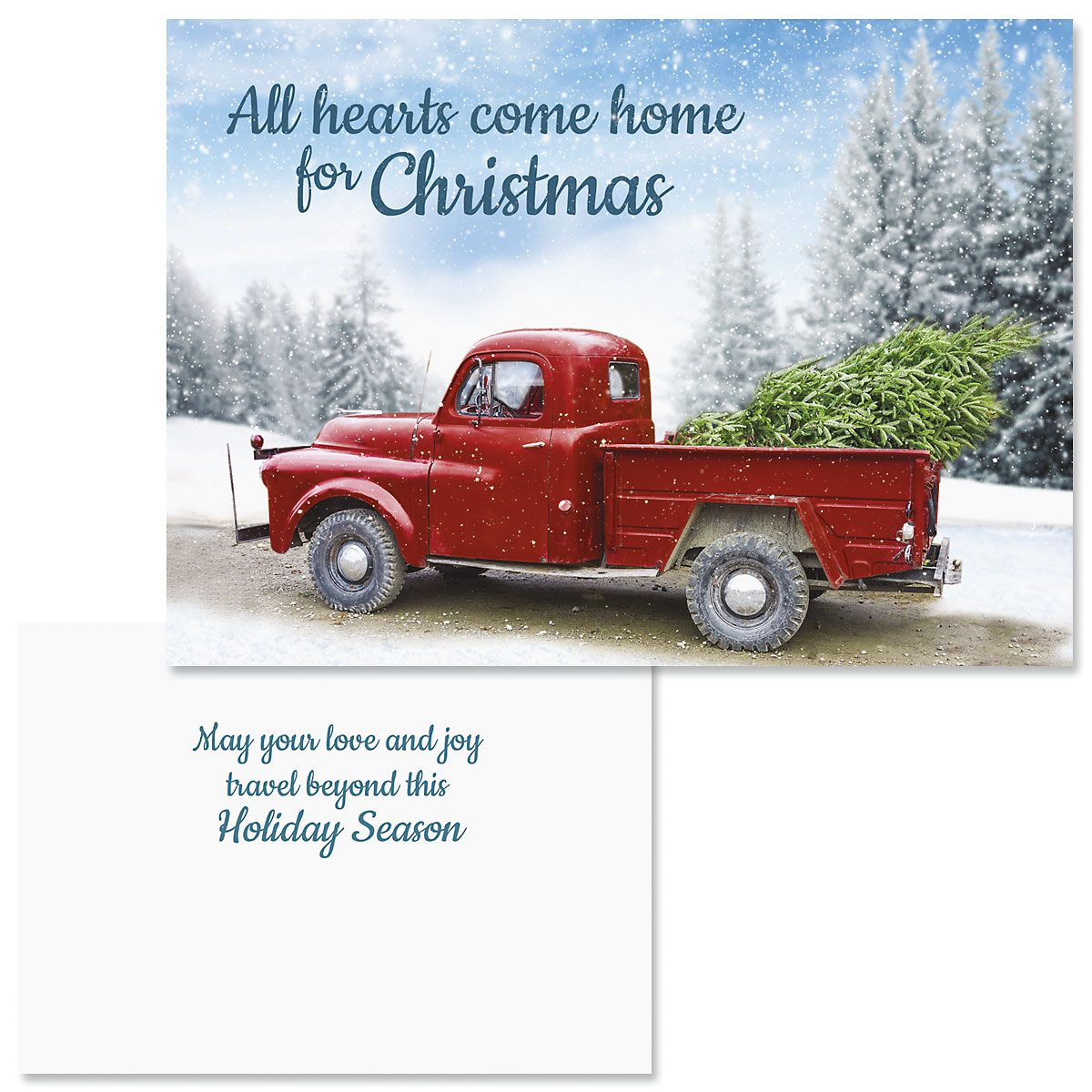 Winter Road Nonpersonalized Christmas Cards - Set of 18