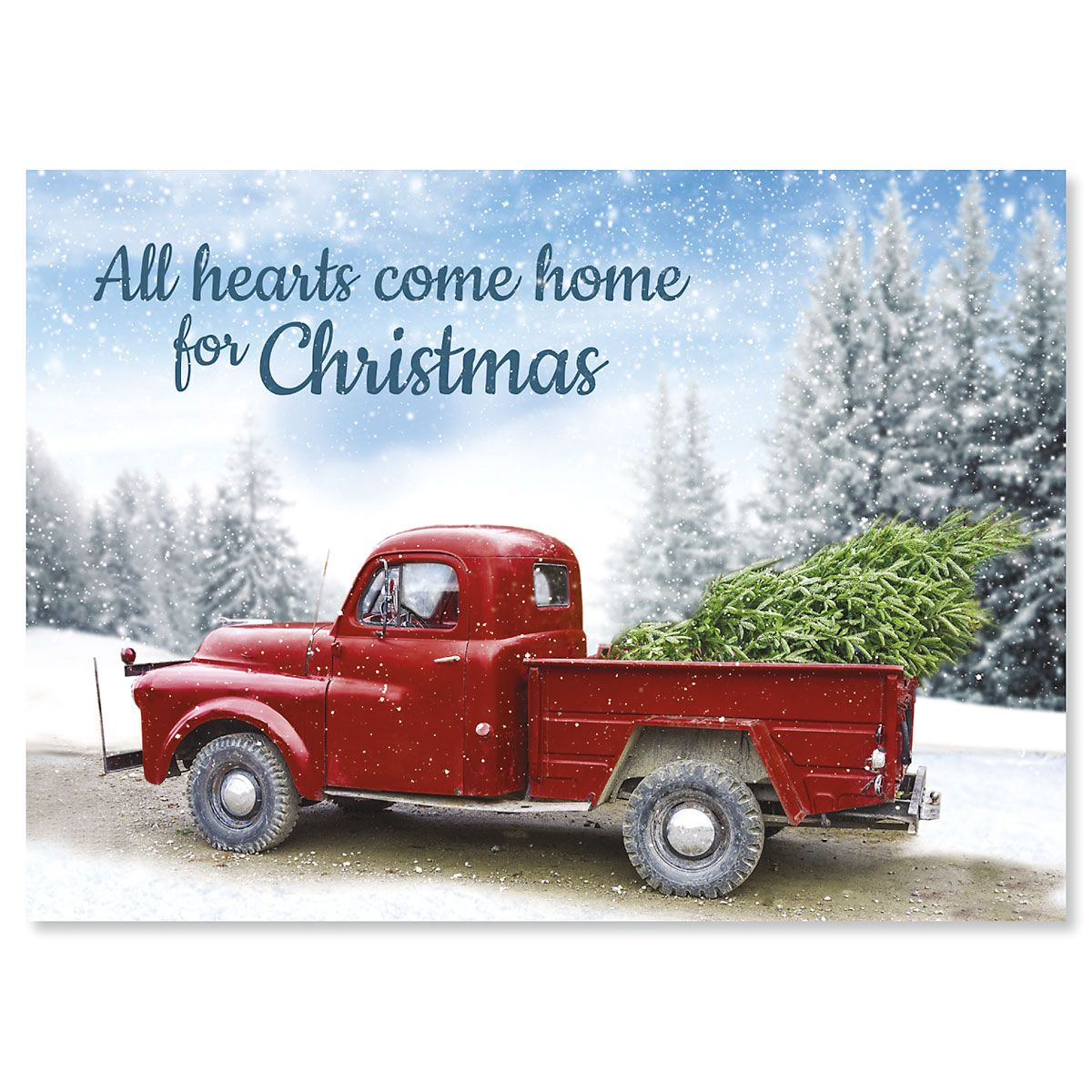 Winter Road Personalized Christmas Cards - Set of 72