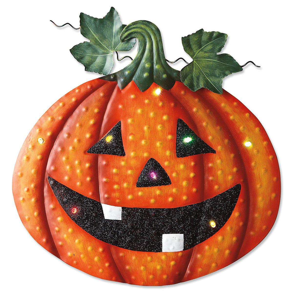 Light-Up Metal Pumpkin