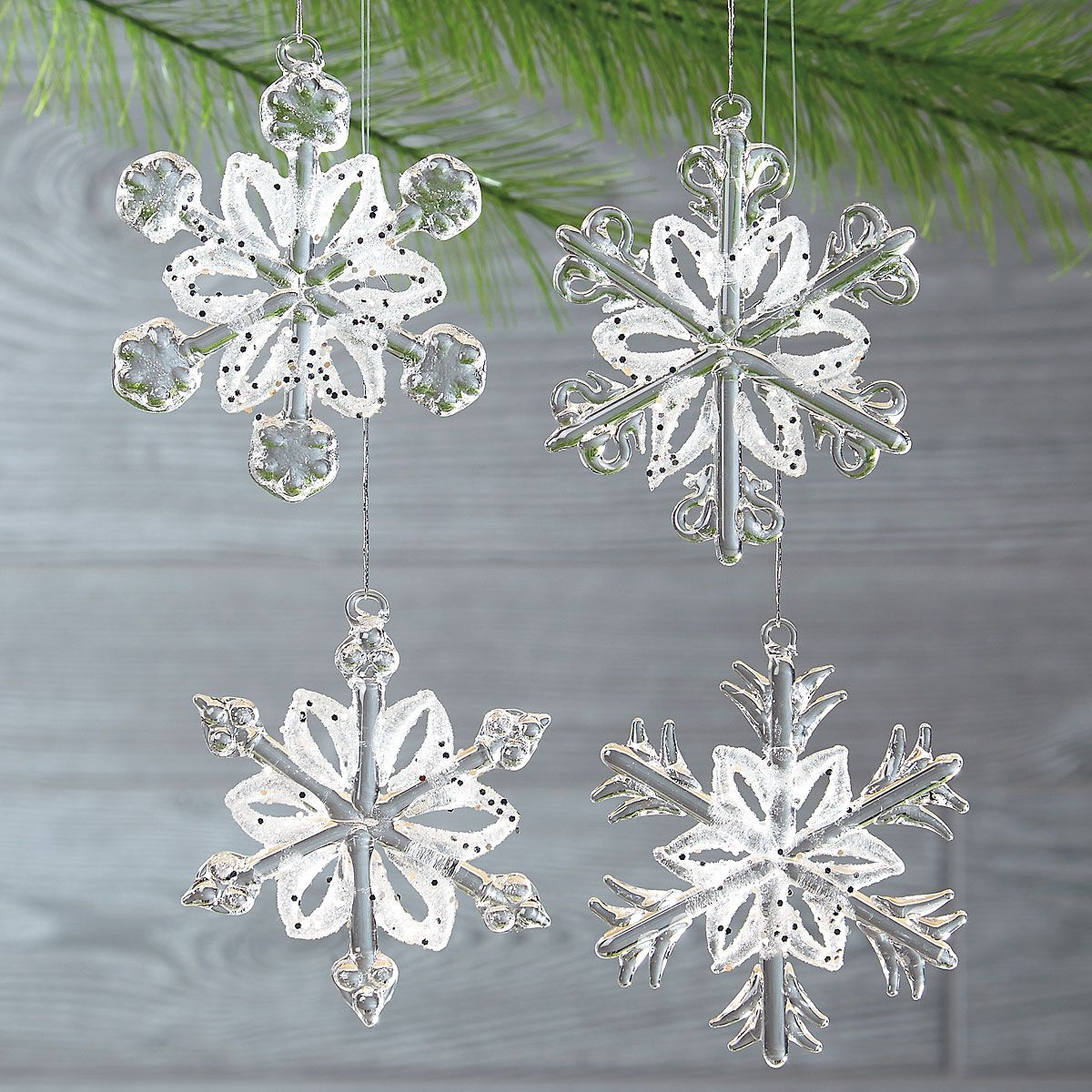 Glass Snowflake Ornaments | Current Catalog