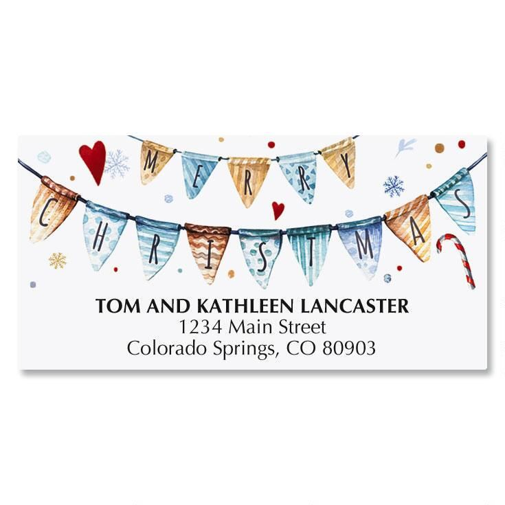 A Holiday Message Deluxe Address Labels