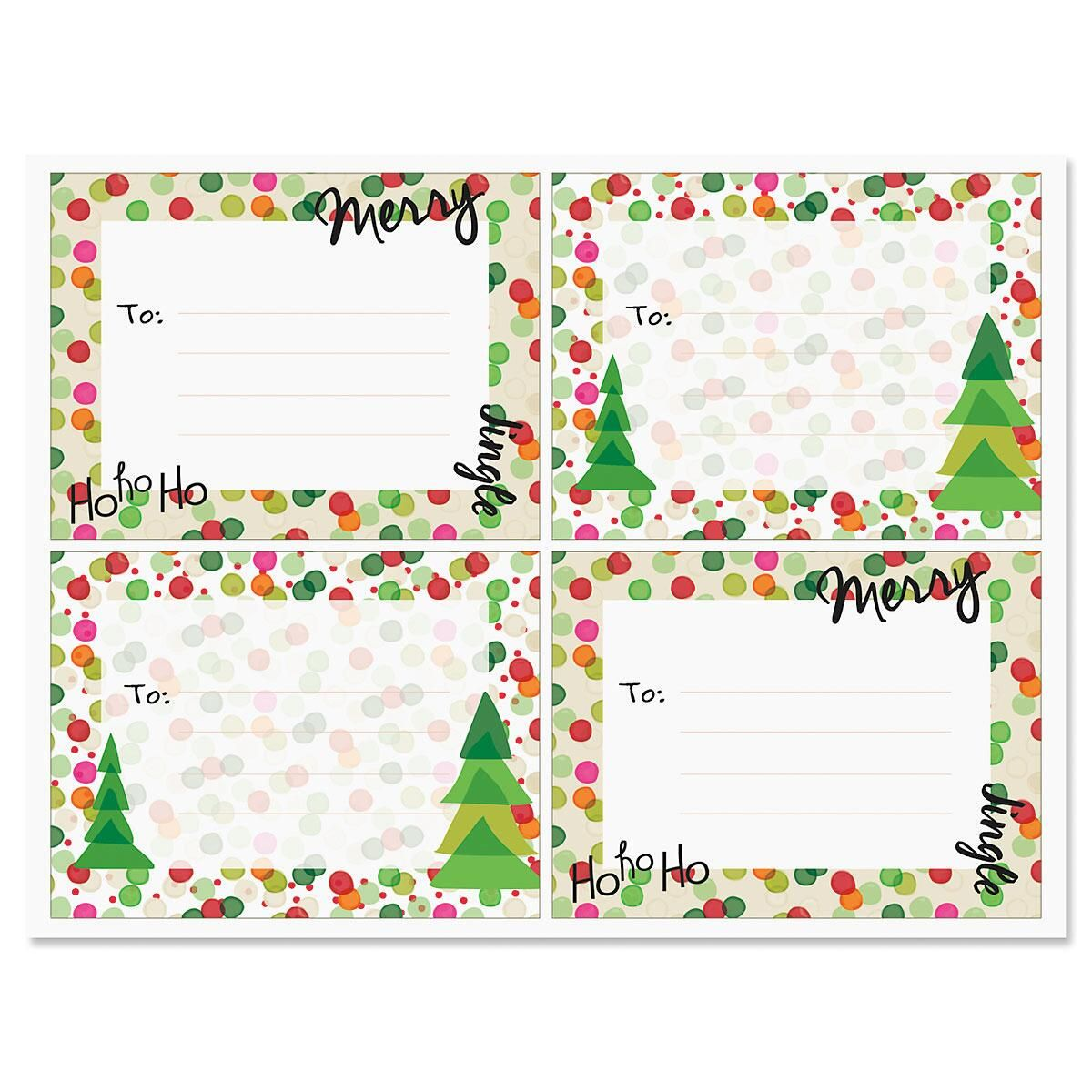 Merry Dot Package Stickers