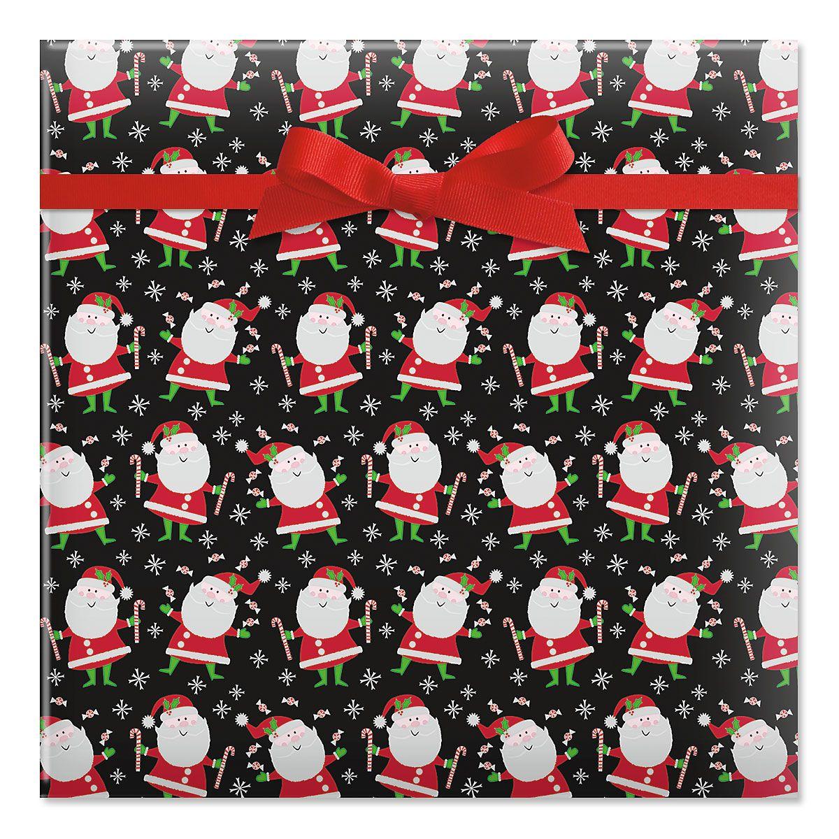Santa's Sweets Jumbo Rolled Gift Wrap