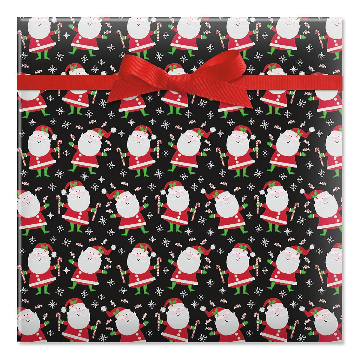 Santa's Sweets Jumbo Rolled Gift Wrap
