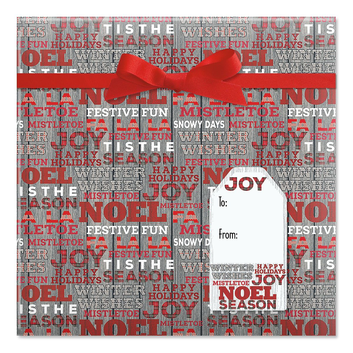 Woven Wishes Jumbo Rolled Gift Wrap and Labels