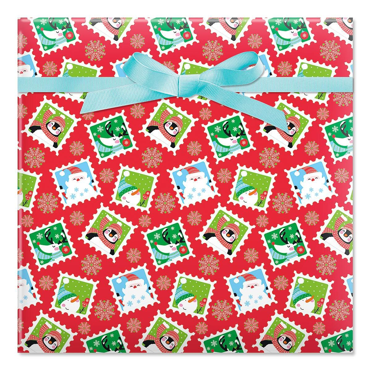 Character Stamps Jumbo Rolled Gift Wrap