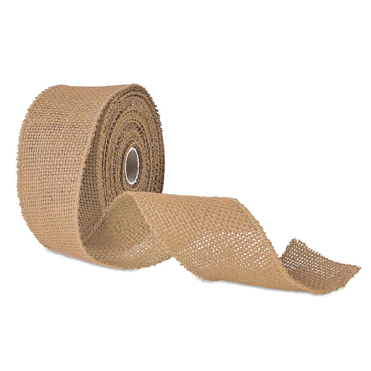 Wired Burlap Ribbon Natural