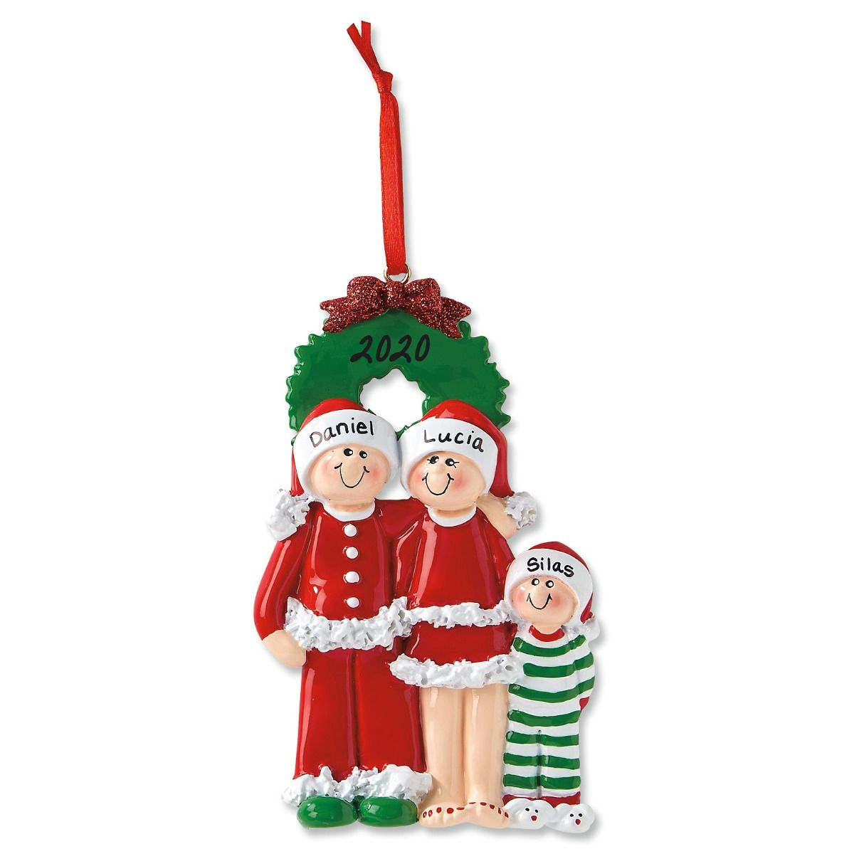 PJ Family Hand-Lettered Christmas Ornament