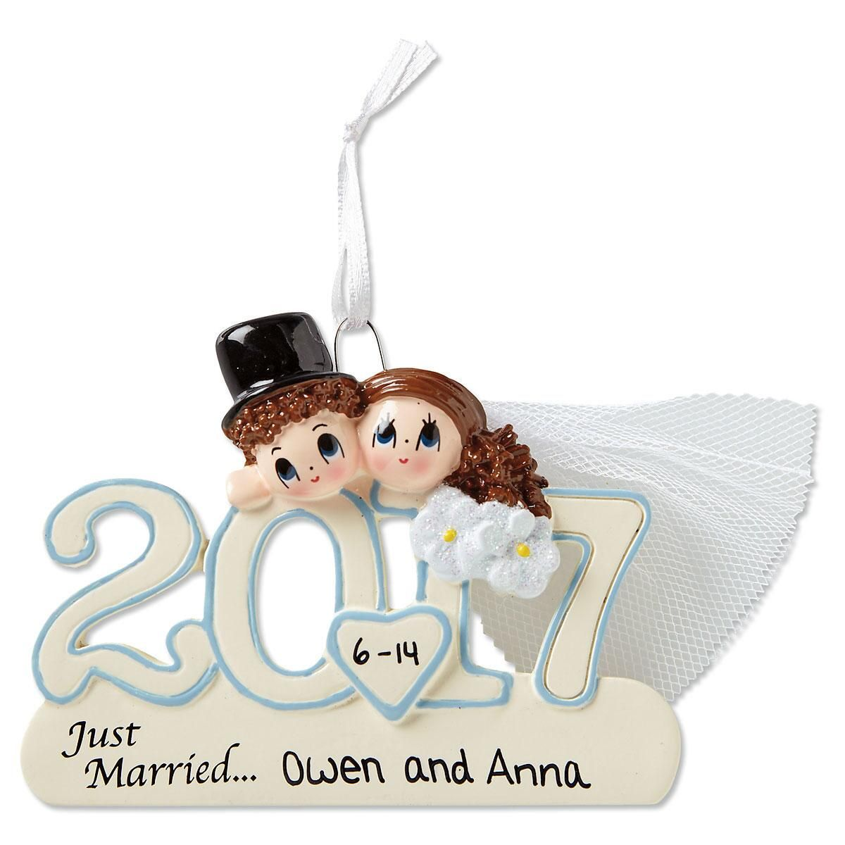 Personalized 2017 Wedding Ornament