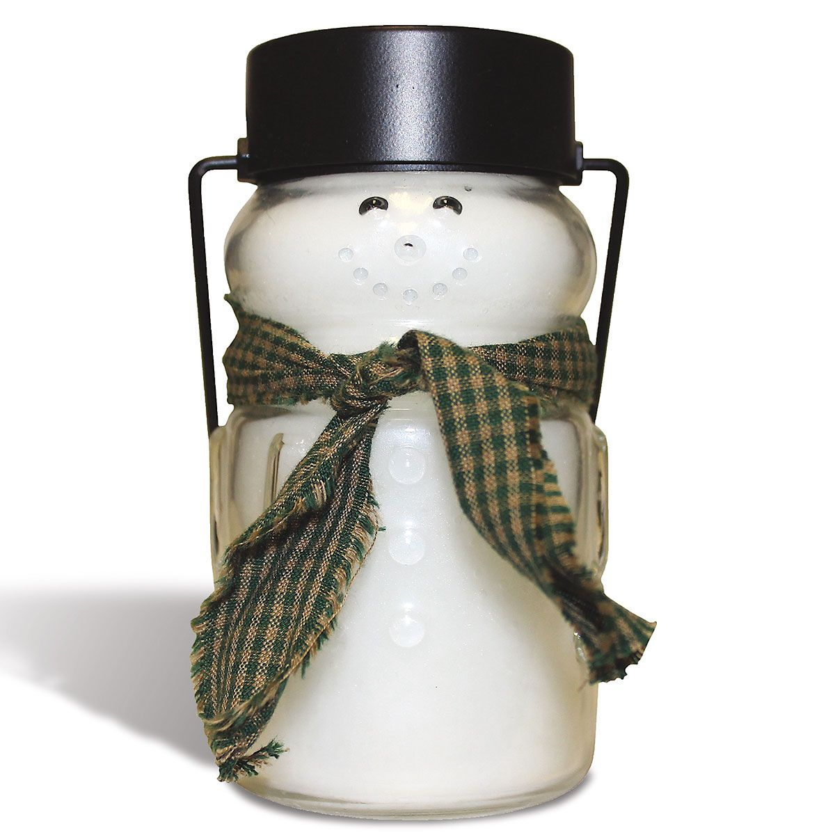 Scented Snowman Jar Candle - Green