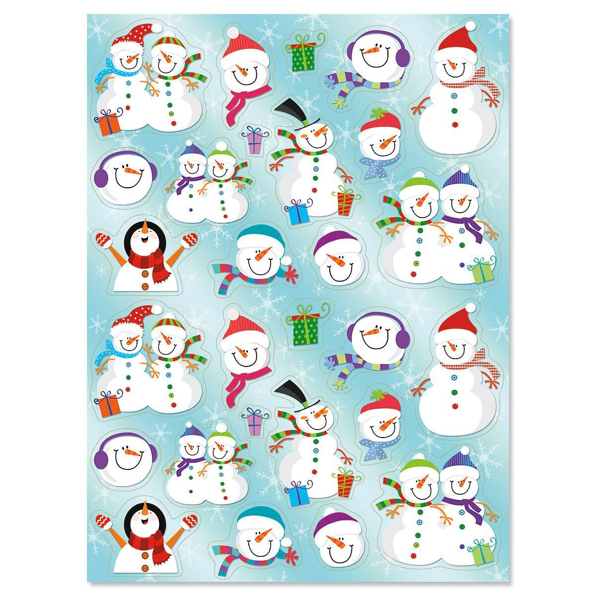Snowmen in Hats Stickers - BOGO