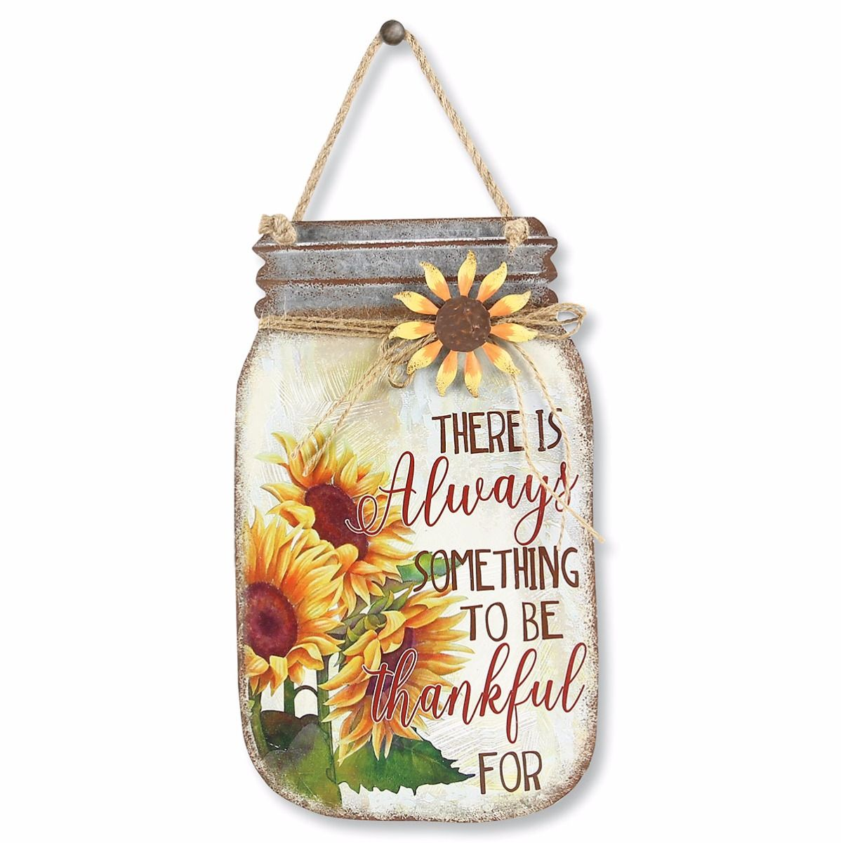 Always Thankful Mason Jar Sign