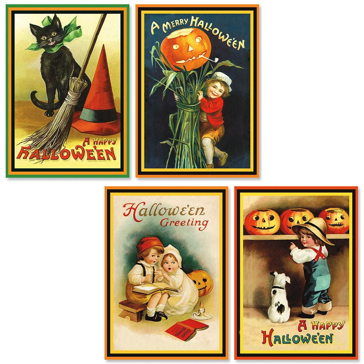 victorian retro halloween cards - halloween cards - holiday cards