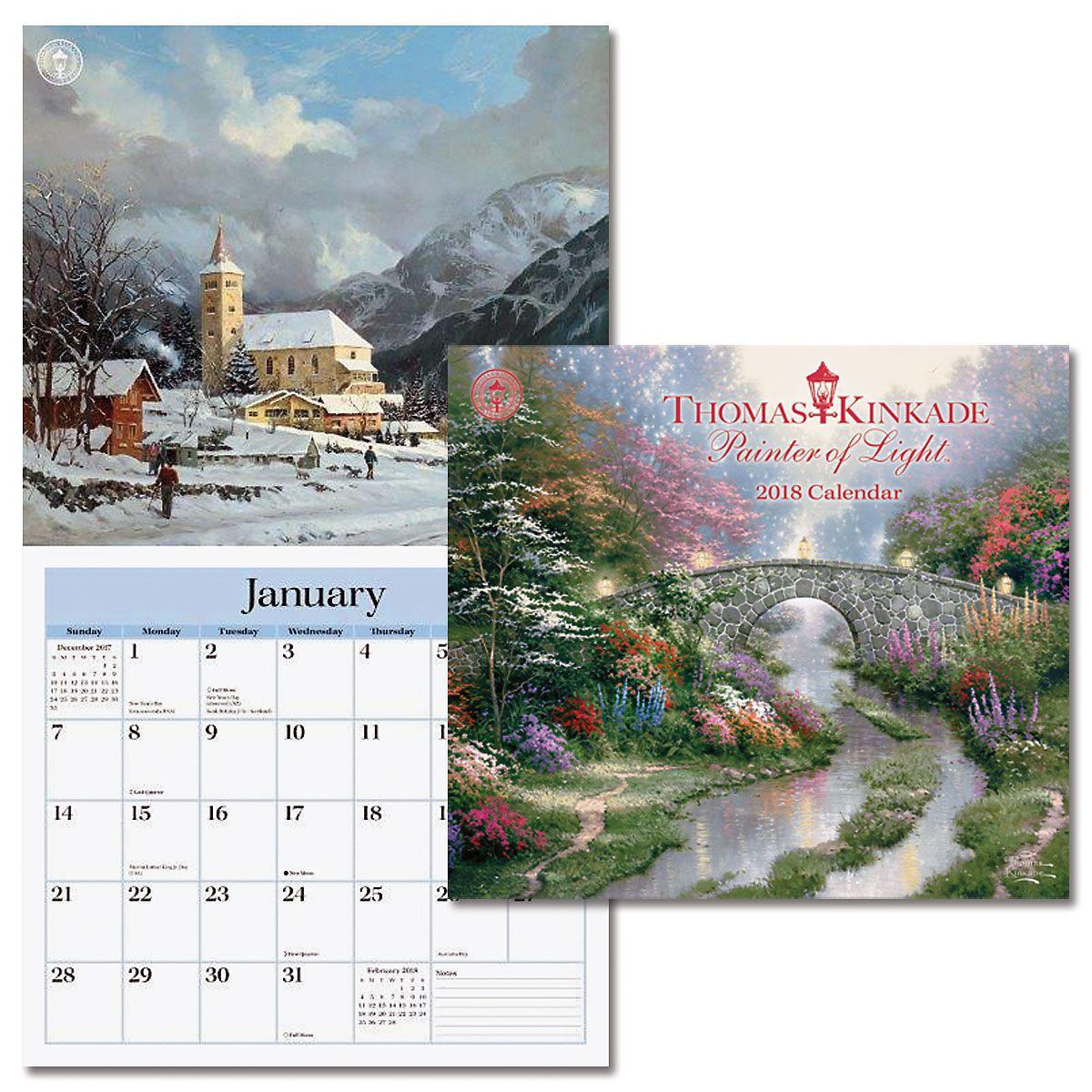 2018 Thomas Kinkade Painter of Light™ Deluxe Wall Calendar