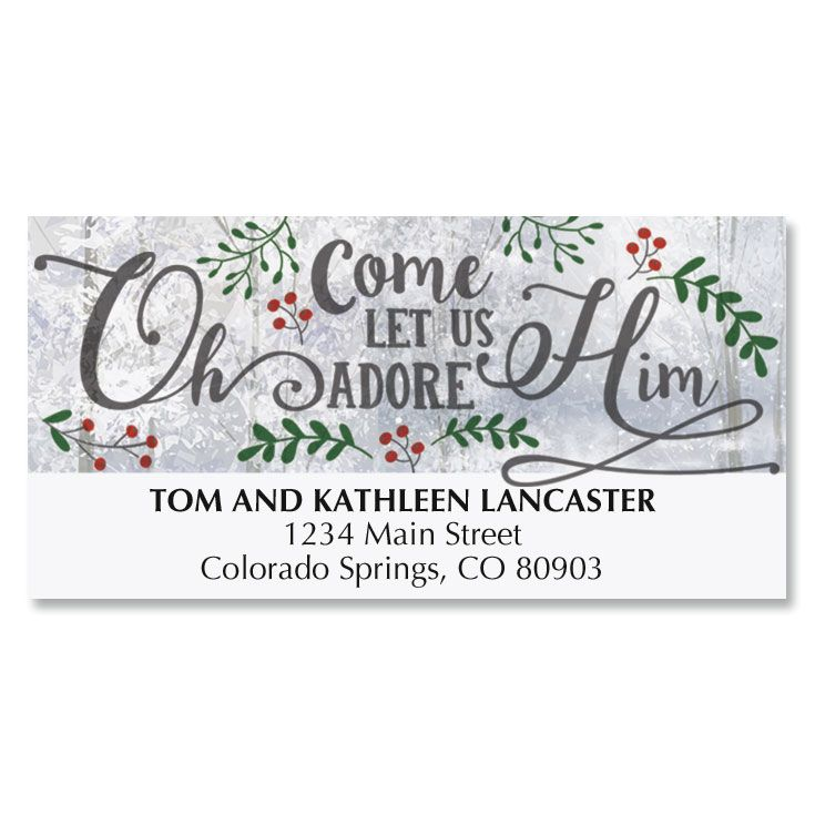 O Come Adore Deluxe Address Labels