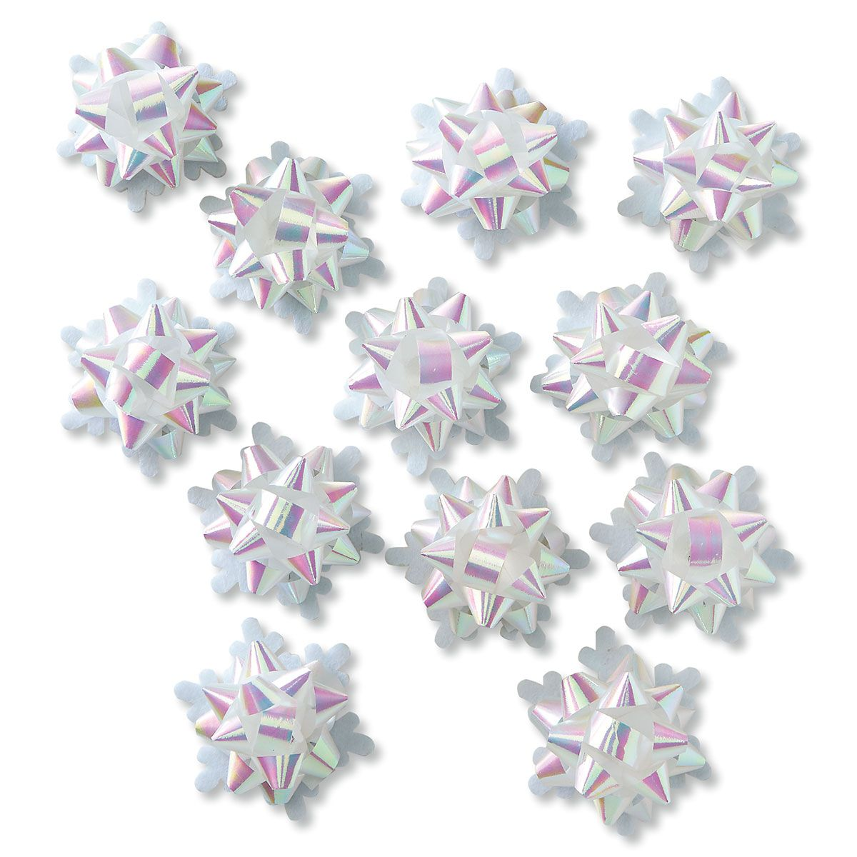 Icy Snowflake Star Bows