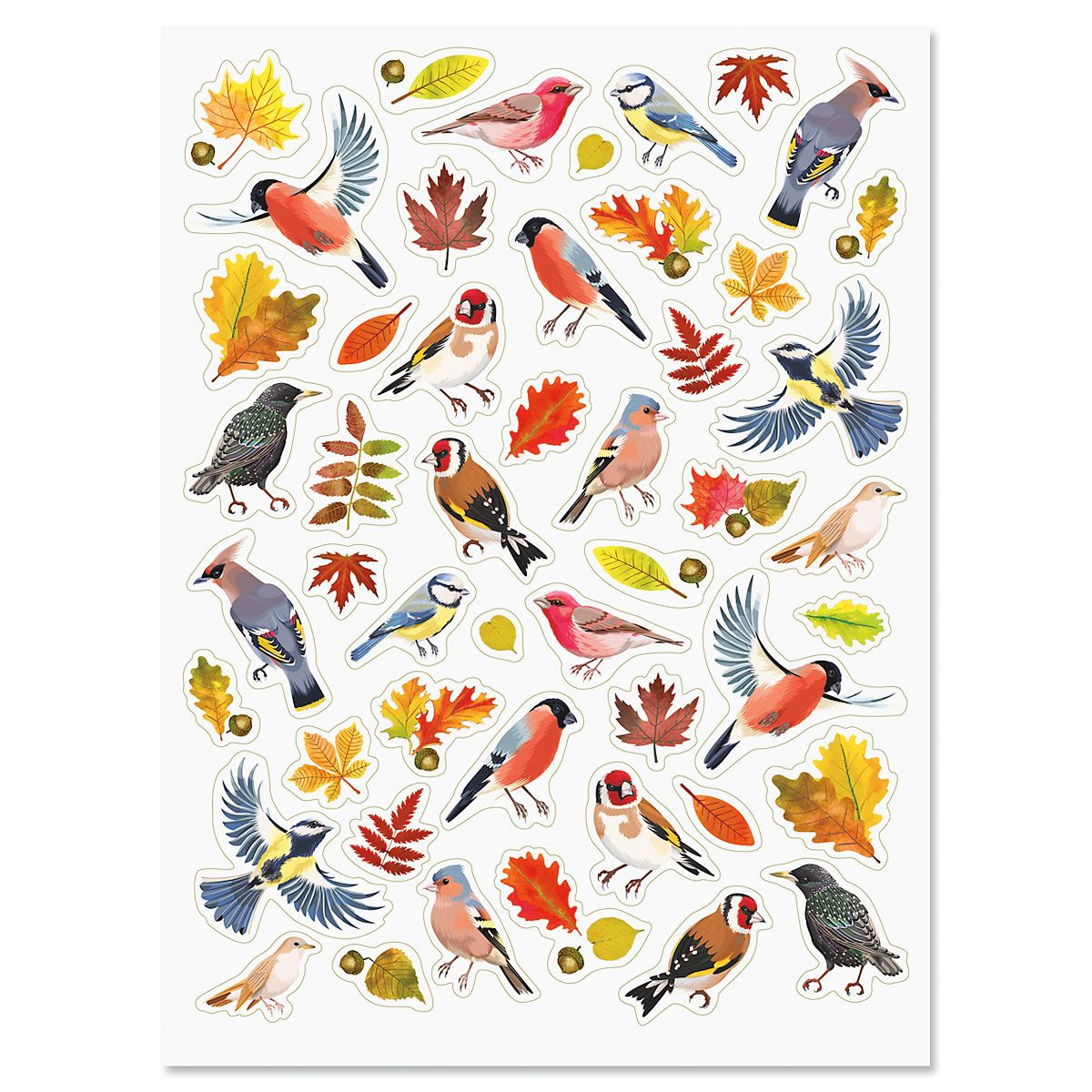 Autumn Birds Stickers
