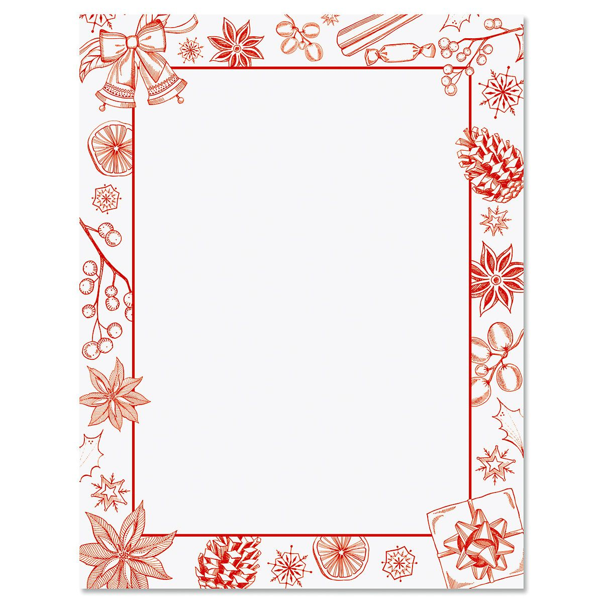 Holiday Sketch Christmas Letter Papers