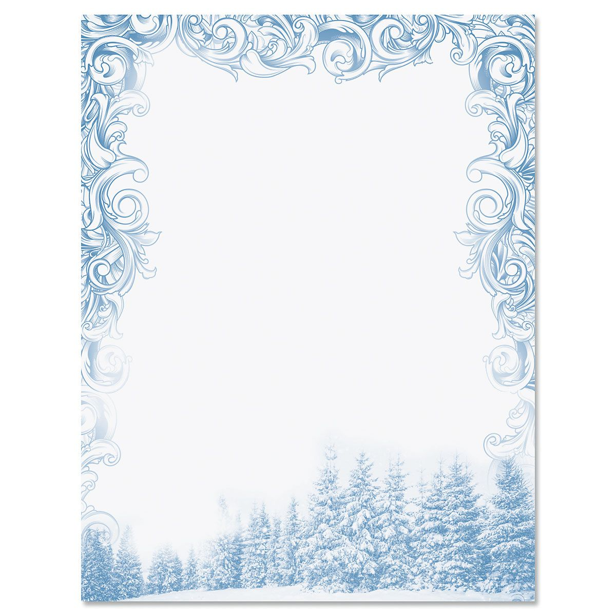 Deluxe Winter Sparkle Christmas Letter Papers