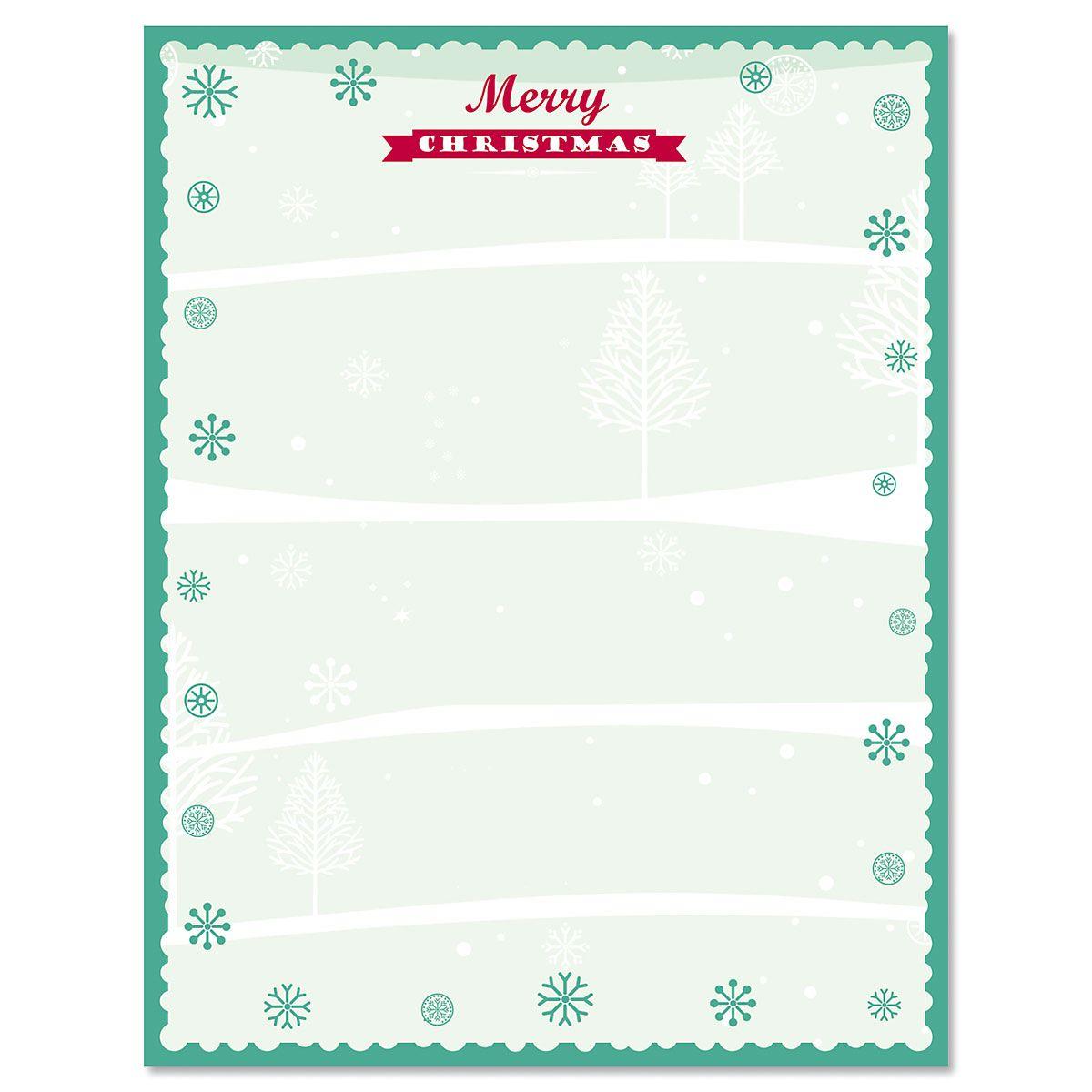 Joyful Christmas Christmas Letter Papers