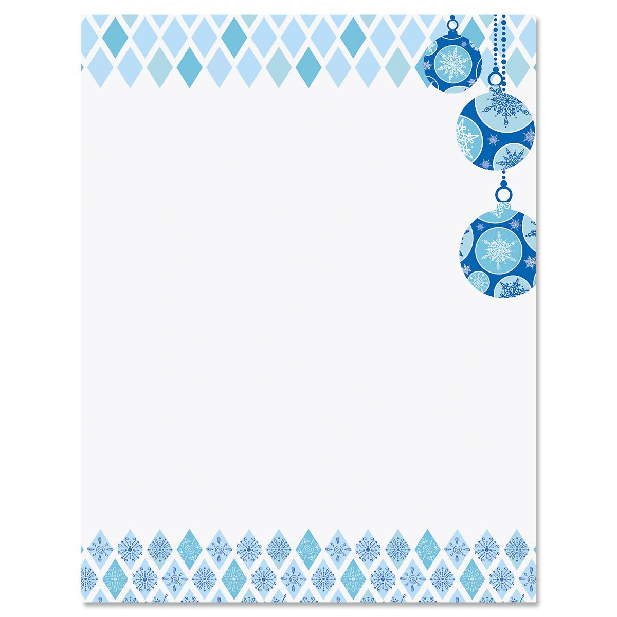 Snowflake Ornaments Christmas Letter Papers