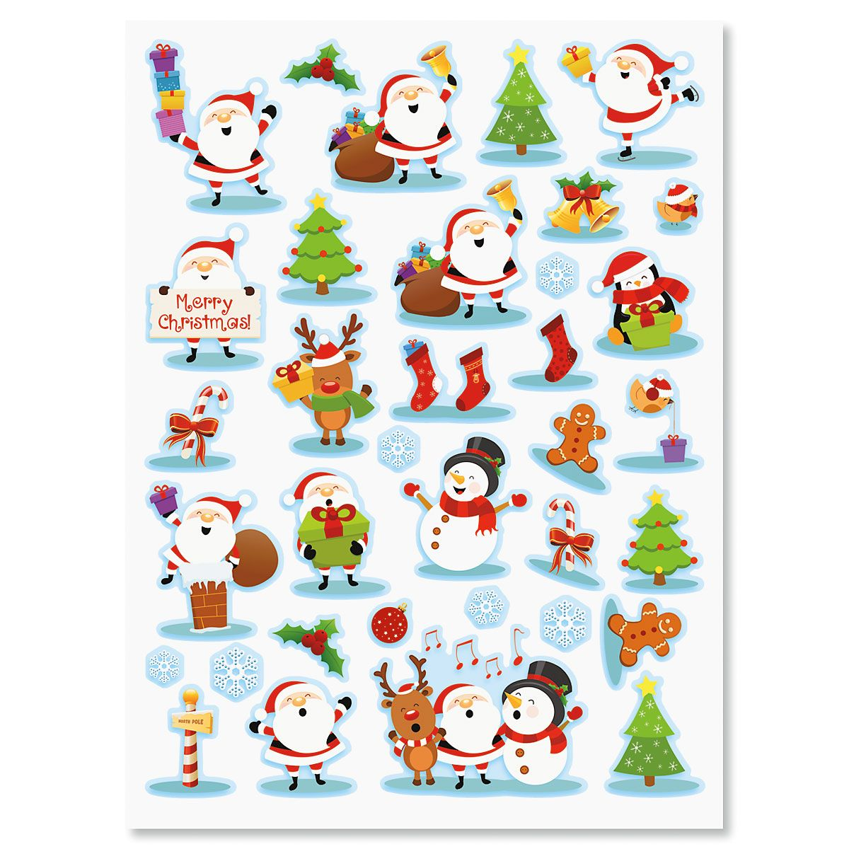 Cute Christmas Icon Stickers