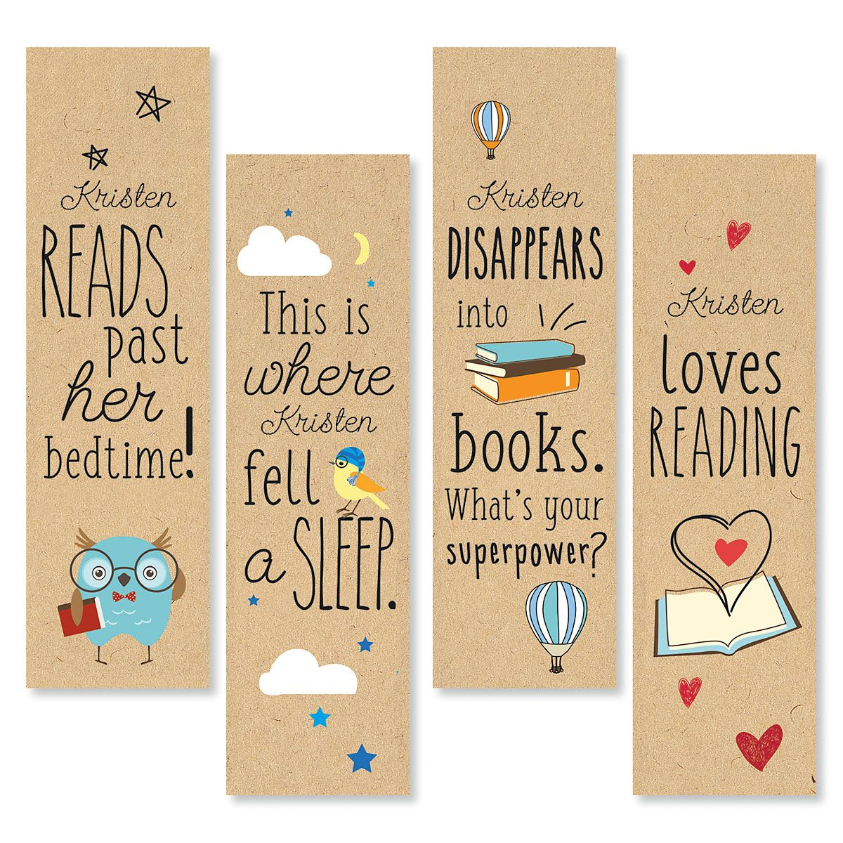 Personalized Reading Bookmarks