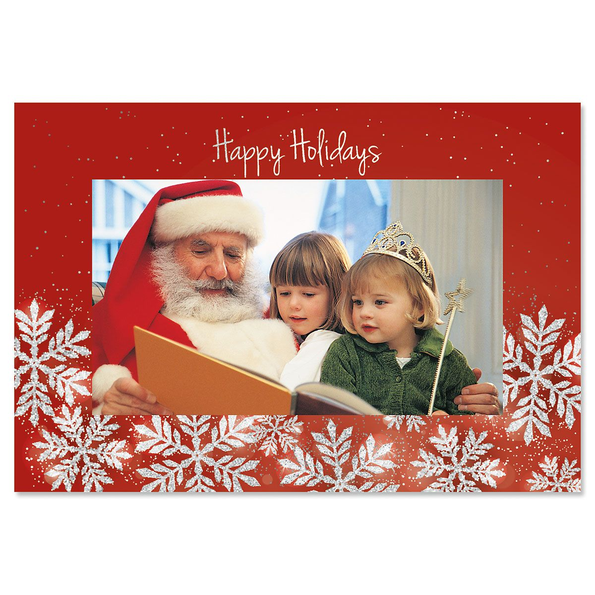 Winter Holiday Photo Sleeve Christmas Cards