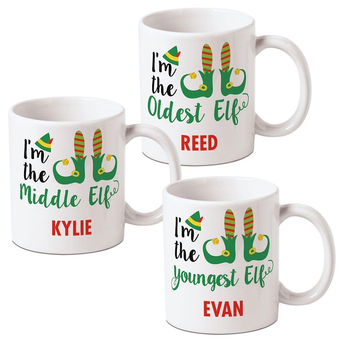 Personalized Elf Mugs