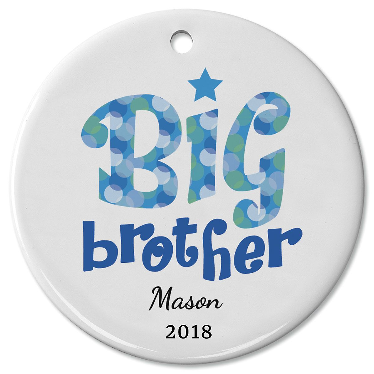 Personalized Big Brother Ceramic Ornament
