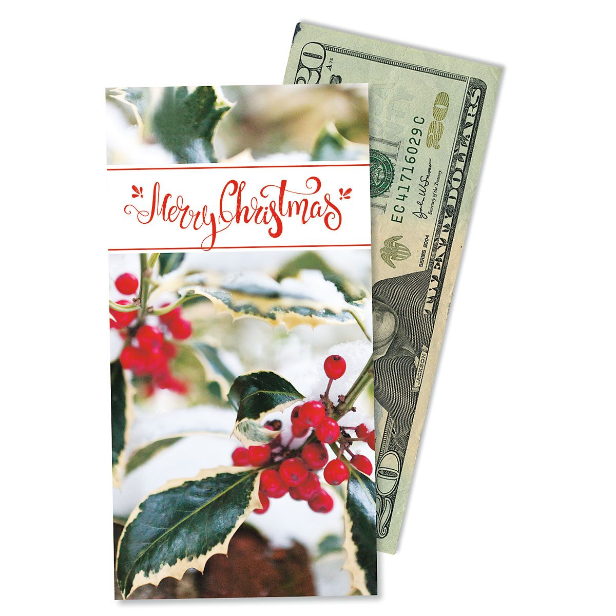 Holly Berry Money Cards