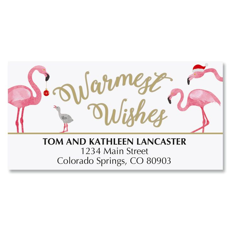 Flamingo Deluxe Address Labels