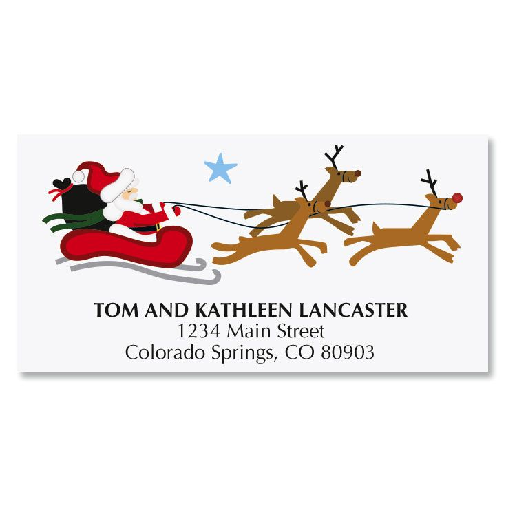 Merry Christmas Icons Deluxe Address Labels