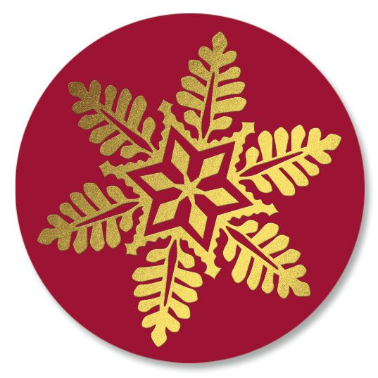 Snowflake Wreath Seals