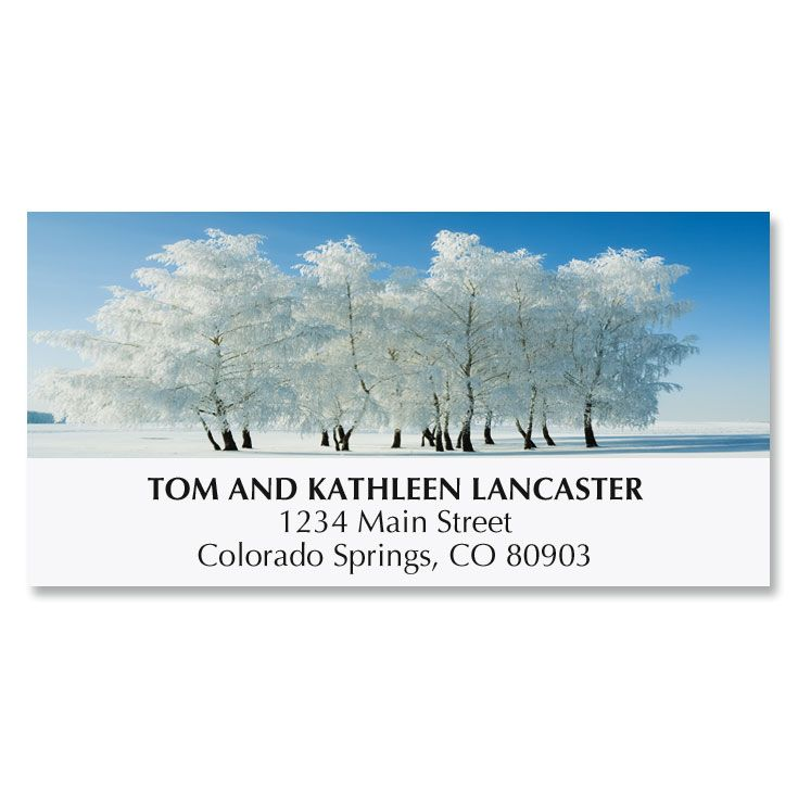 Snowy Stillness Deluxe Address Labels