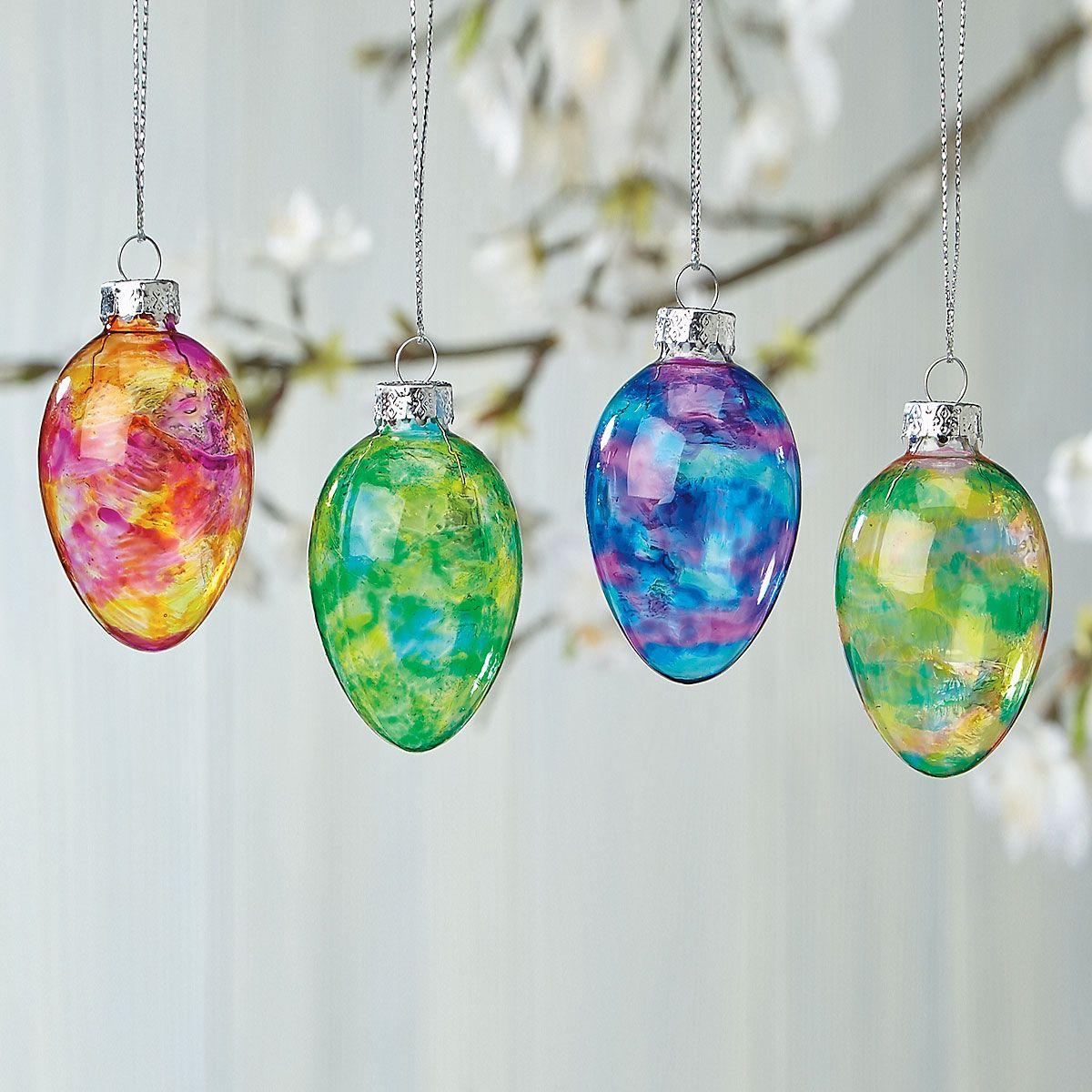 Glass Ornament Easter Eggs