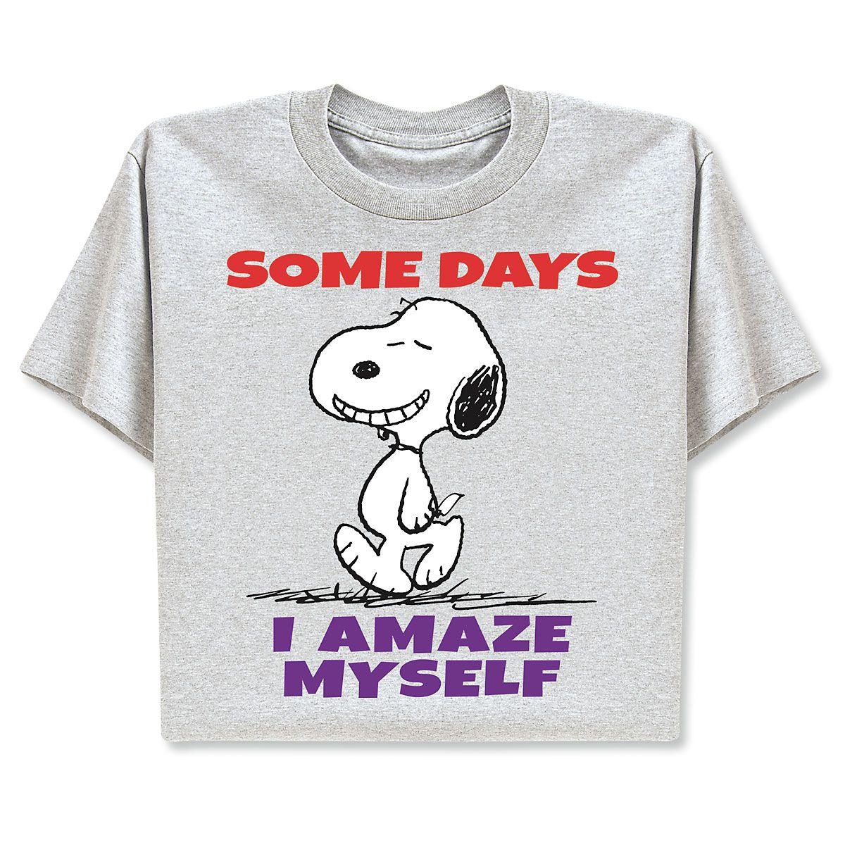 PEANUTS® T-Shirts - I Amaze Myself - Large