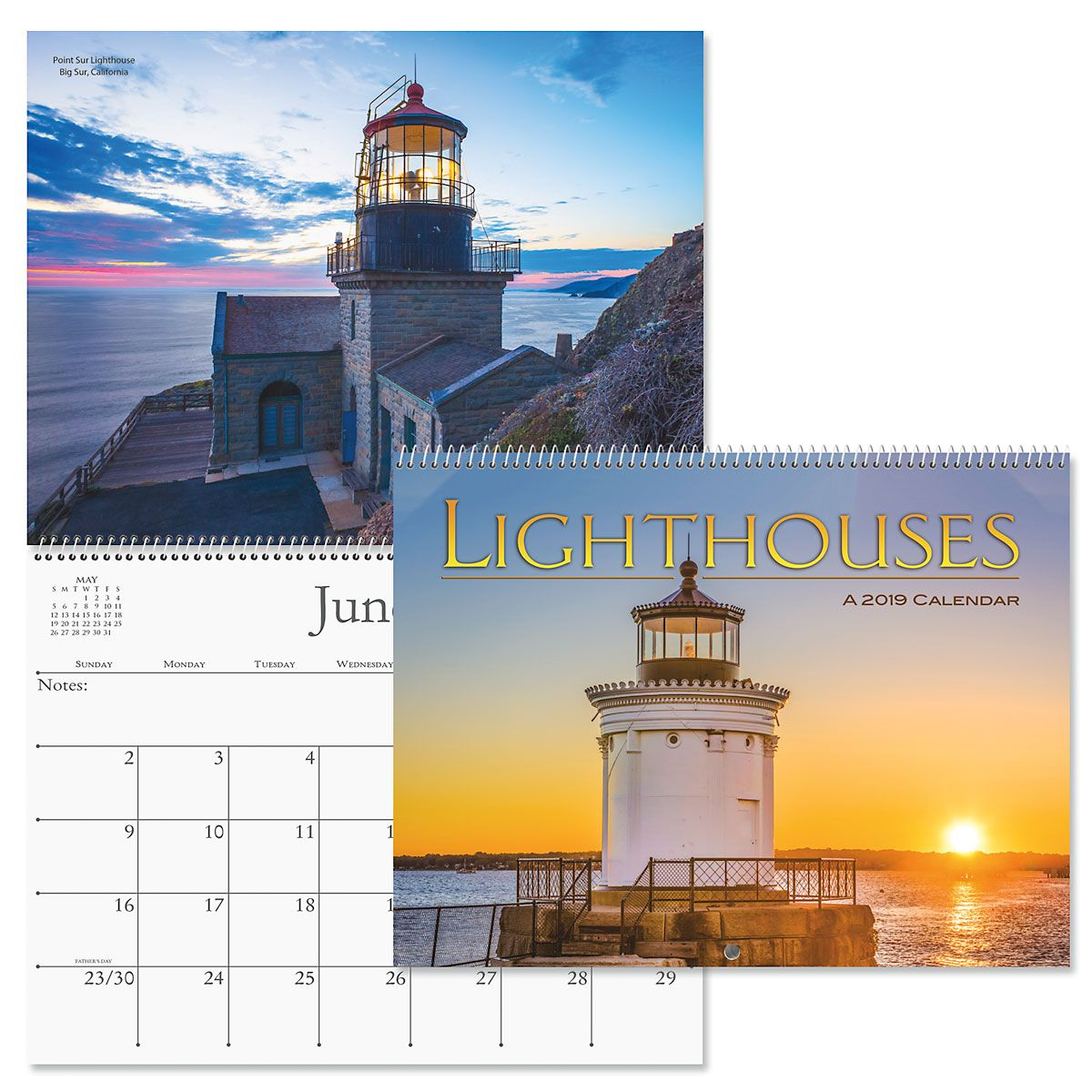 2019 Lighthouses Wall Calendar